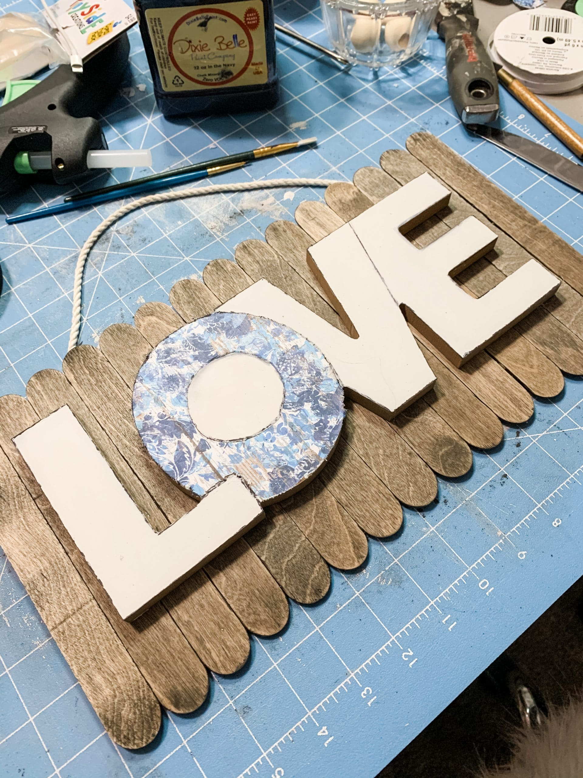 Spring Decor DIY Dollar Tree LOVE Sign