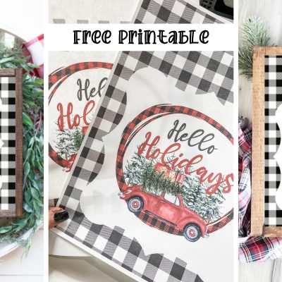Free Christmas Printable with Buffalo Check