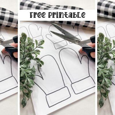 Free Christmas Mittens Printable