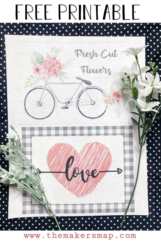 Bike and Heart Printable For Free