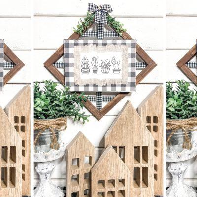 DIY Farmhouse Decor with Buffalo Check Printable