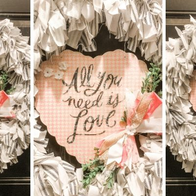 DIY Valentine's Day Magnetic Door Decor