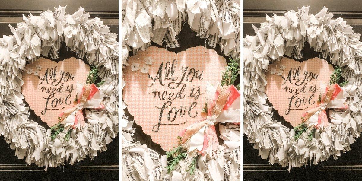 DIY Valentine's Day Magnetic Door Decor