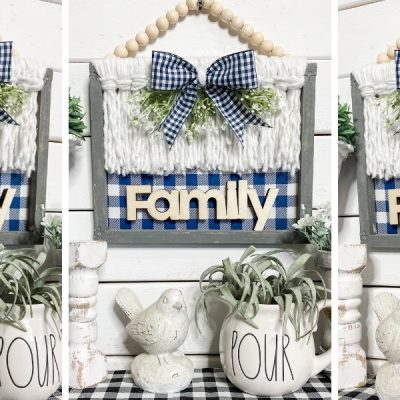Dollar Tree DIY Reverse Canvas Boho Decor