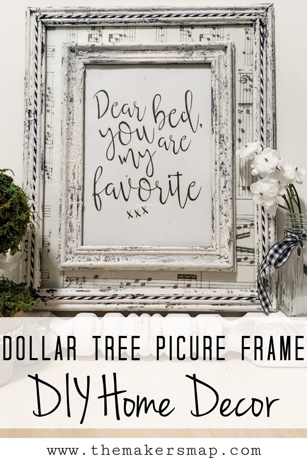 Dollar Tree Picture Frame DIY Home Decor using spackling