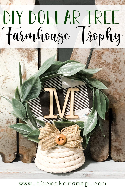 Dollar Tree Trophy DIY Farmhouse Decor