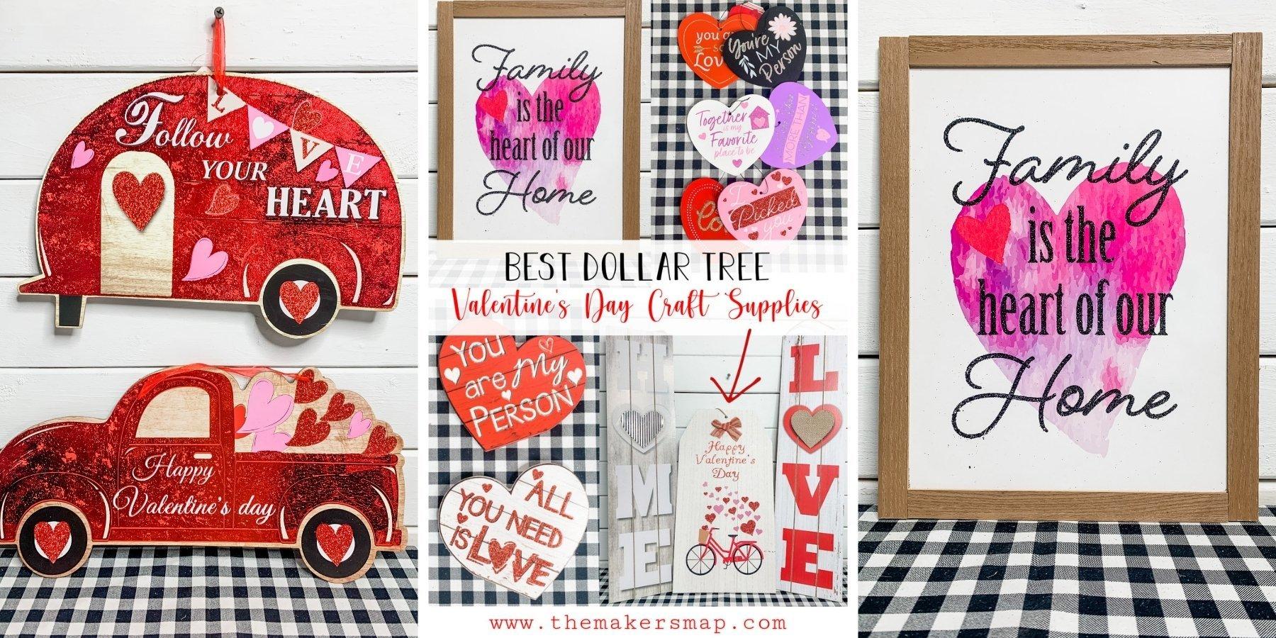 Best Dollar Tree Valentine's Day Craft Supplies