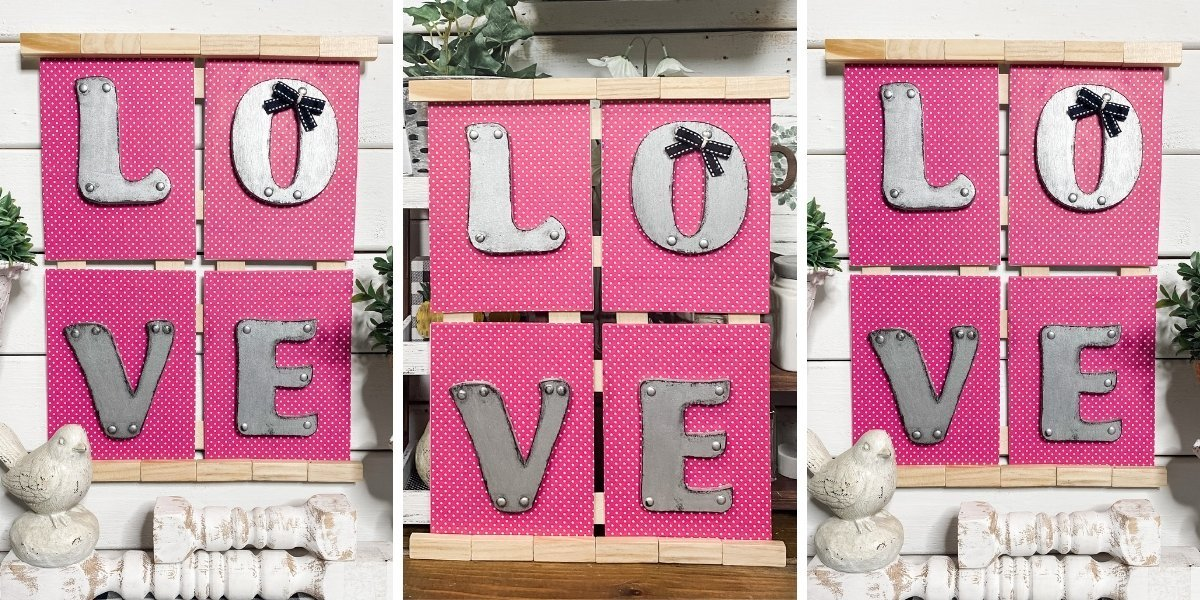 Faux Metal Dollar Tree DIY Valentine's Day Decor