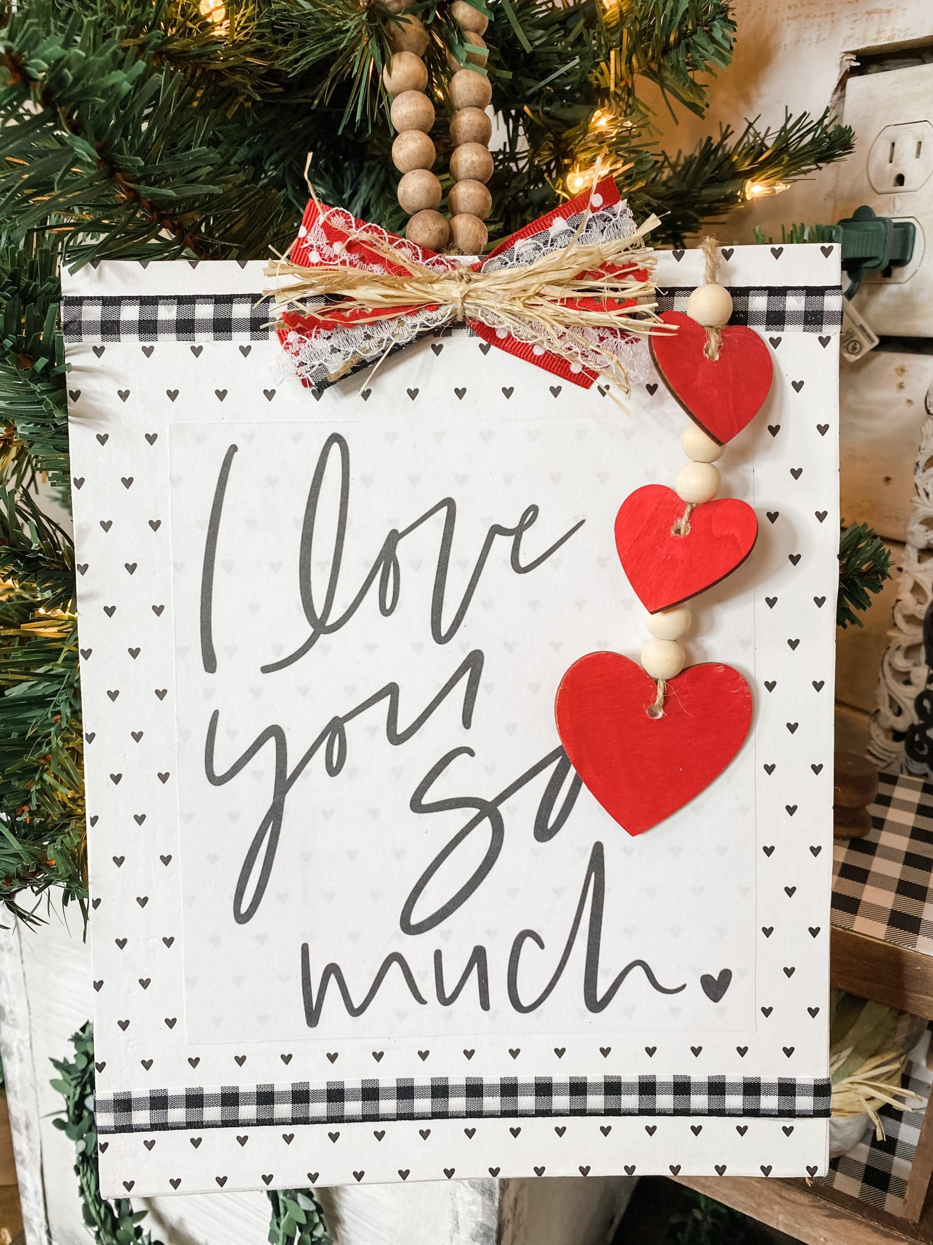 DIY Home Decor with FREE Valentine's Day Printable