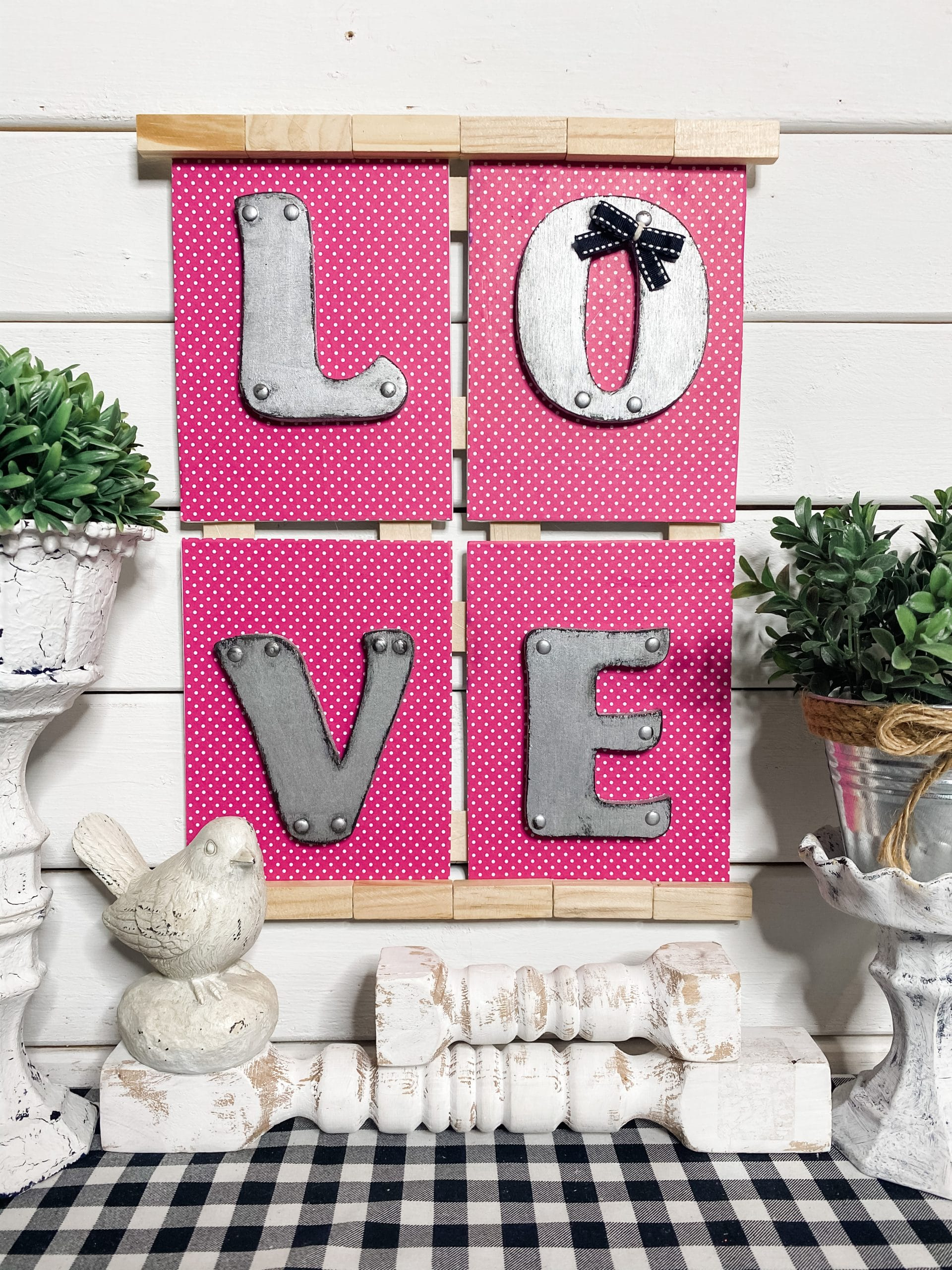 Faux Metal Dollar Tree DIY Valentine's Day Decor