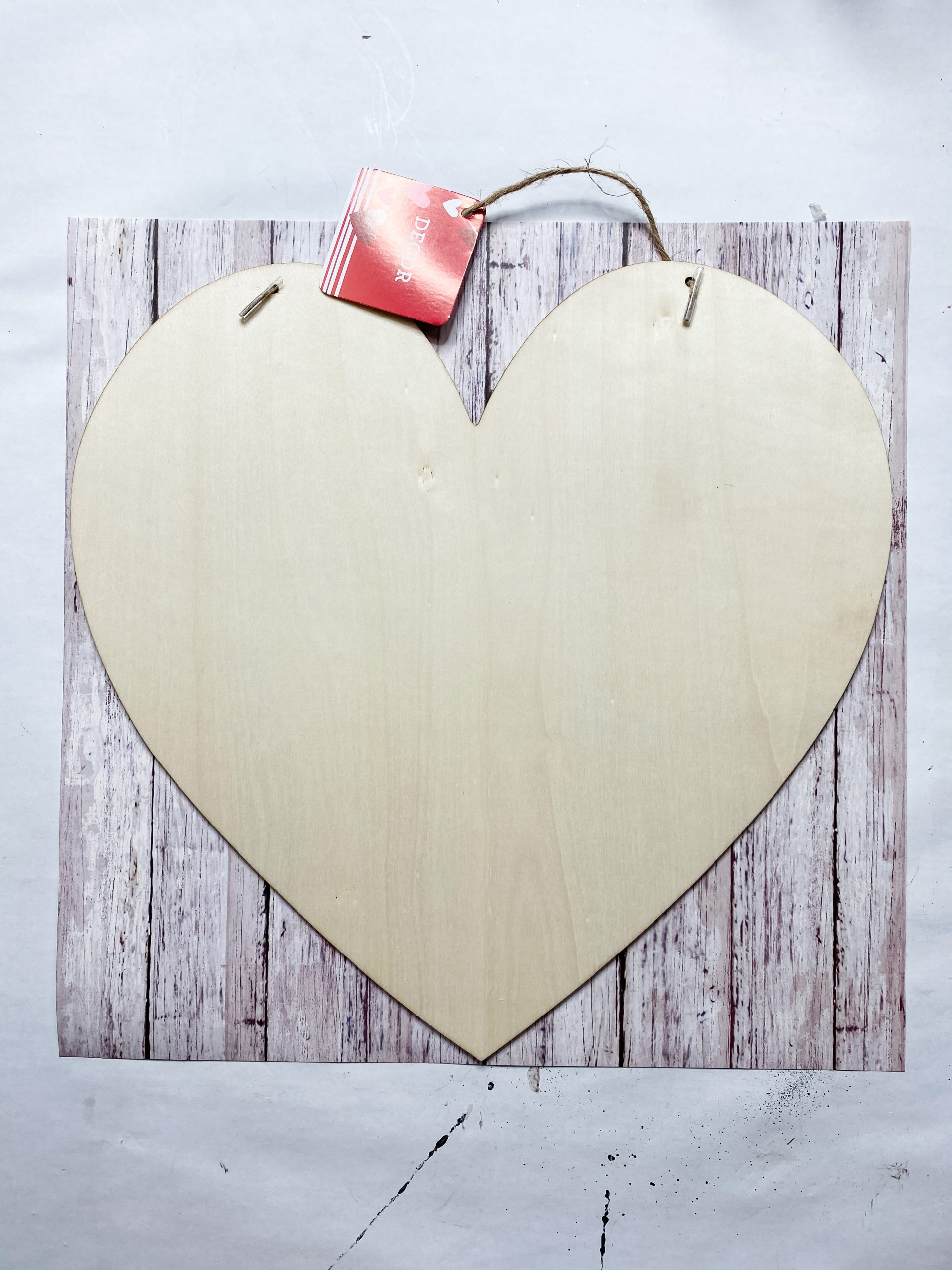 Dollar Tree Crafter's Square wood heart cut out