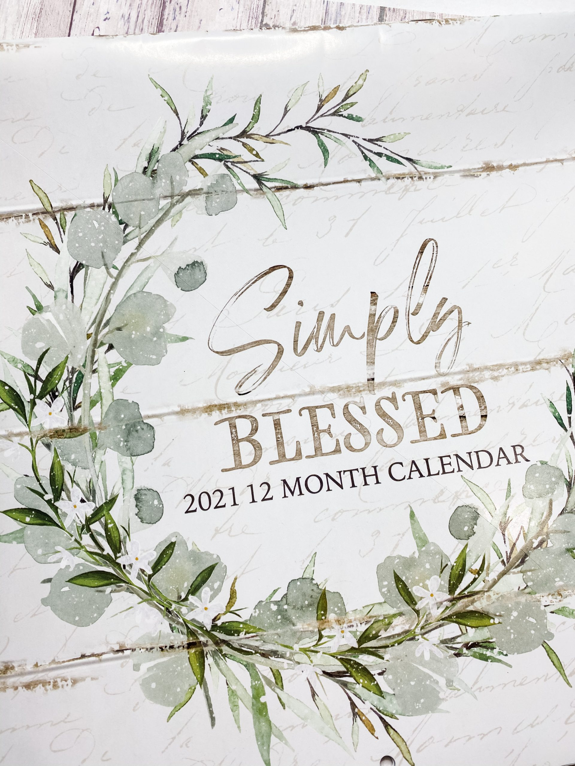 Dollar Tree Calendar DIY Shabby Chic Decor