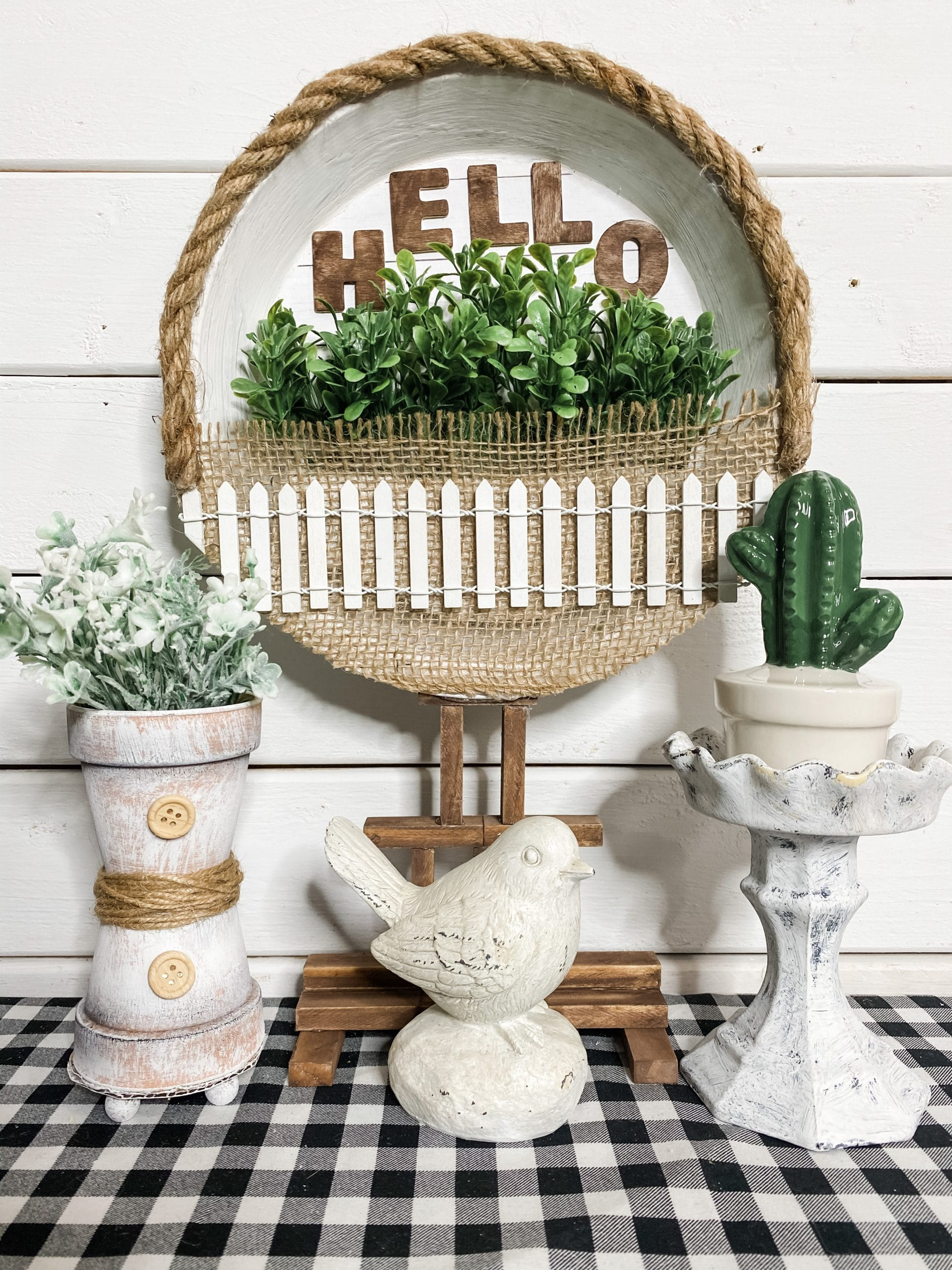 Dollar Tree Pie Pan DIY Spring Decor