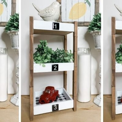 How to Make a Rustic Dollar Tree DIY 3 Tiered Shelf