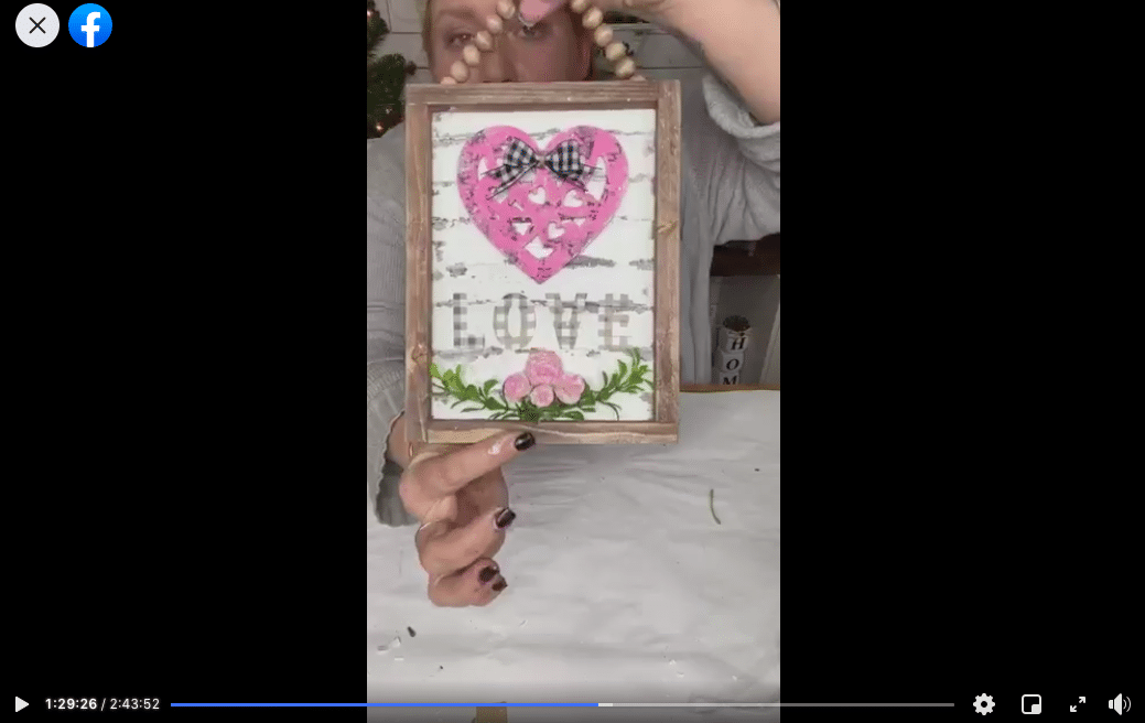 DIY Dollar Tree Reverse Canvas Valentine's Day Decor