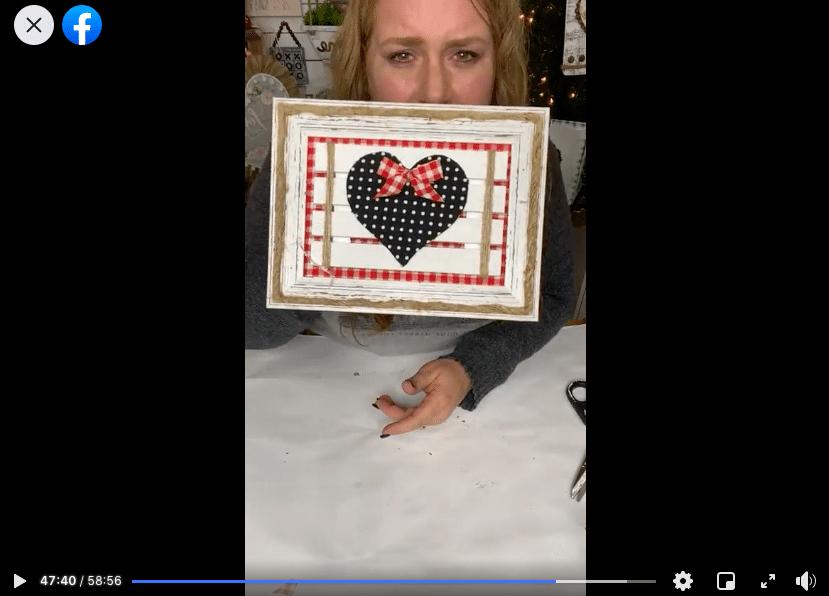 DIY Dollar Tree Mini Pallet Valentine's Day Decor