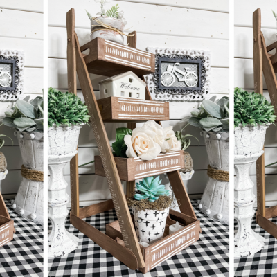 How to make a tiered plant stand or organizer