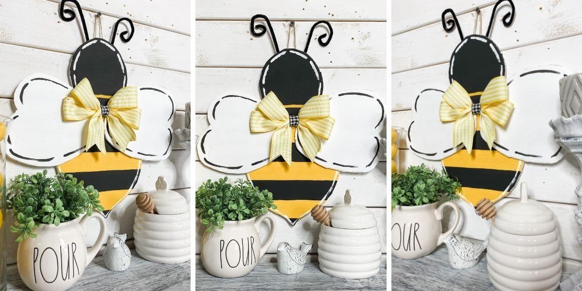 DIY Bumble Bee Door Hanger with Free Template