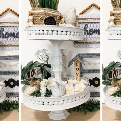 DIY Dollar Tree Burner Cover Tiered Tray