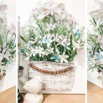 How to make a DIY Flower Basket Spring Decor