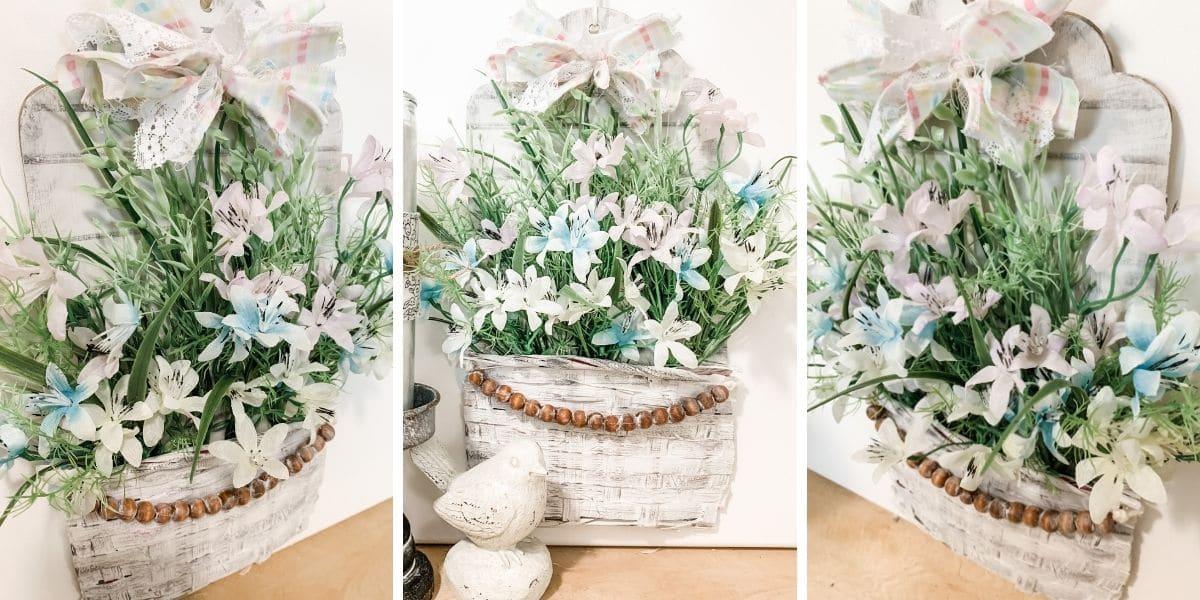 How to make a DIY Flower Basket Spring Decor