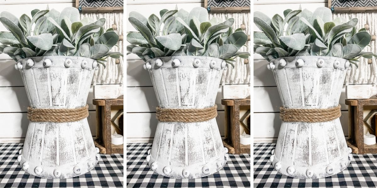 How to Make a DIY Rustic Bucket Planter