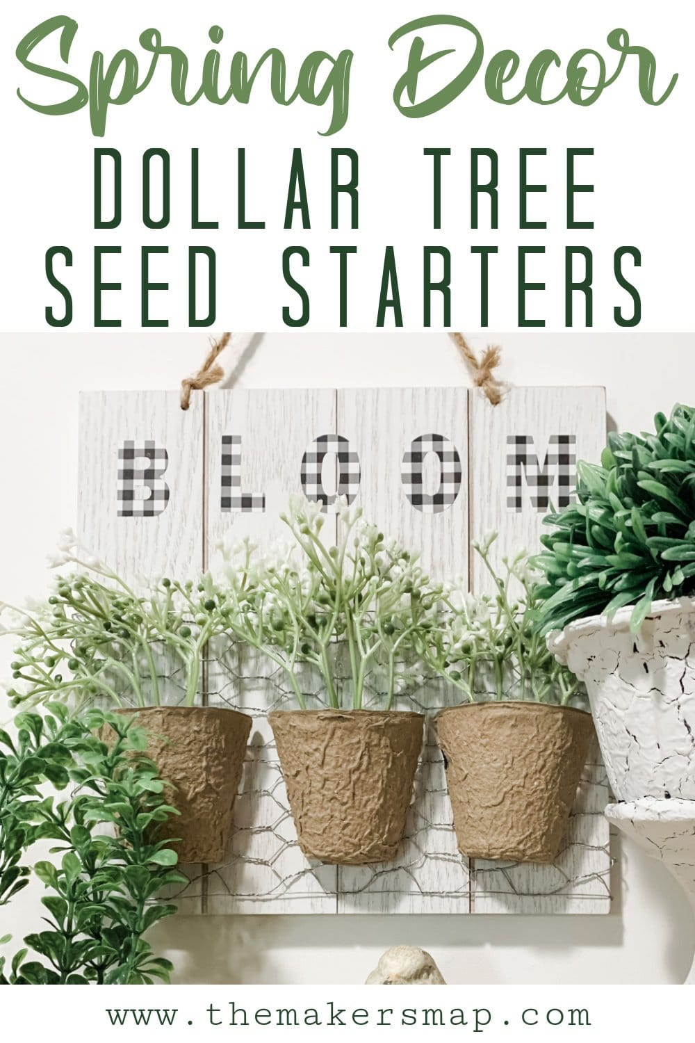 DIY Spring Decor with Seed Starters