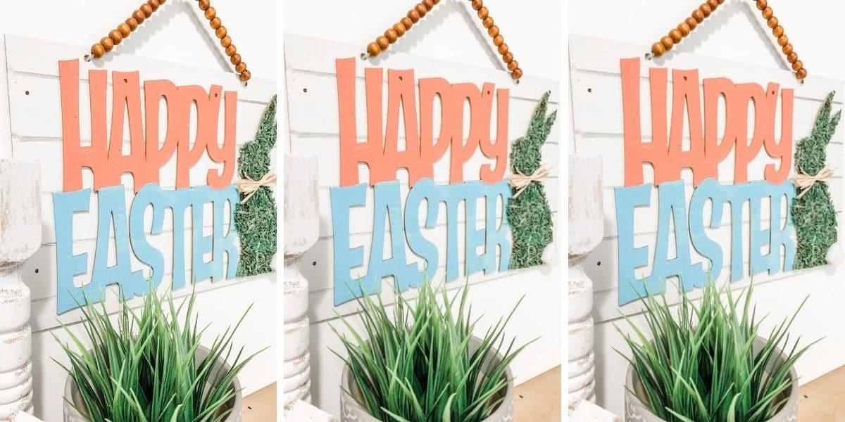 Dollar Tree Mossy Bunny Easter Decor DIY