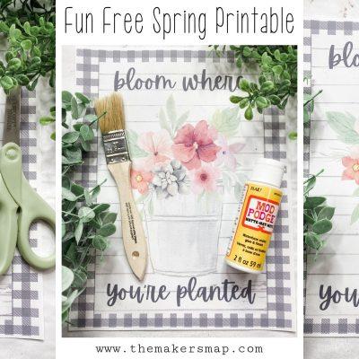 Totally Free Spring Printable