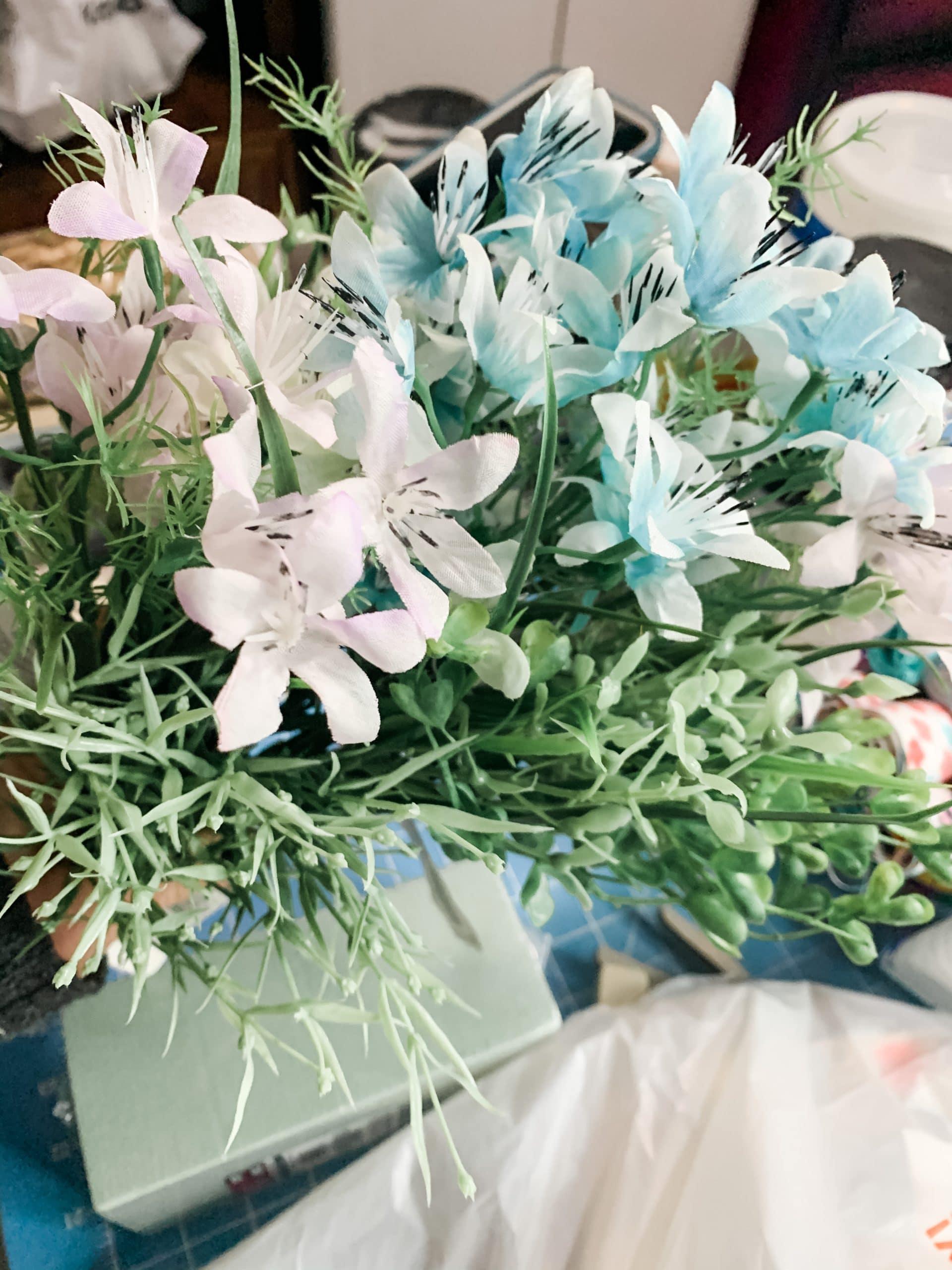 DIY Flower Basket Spring Decor