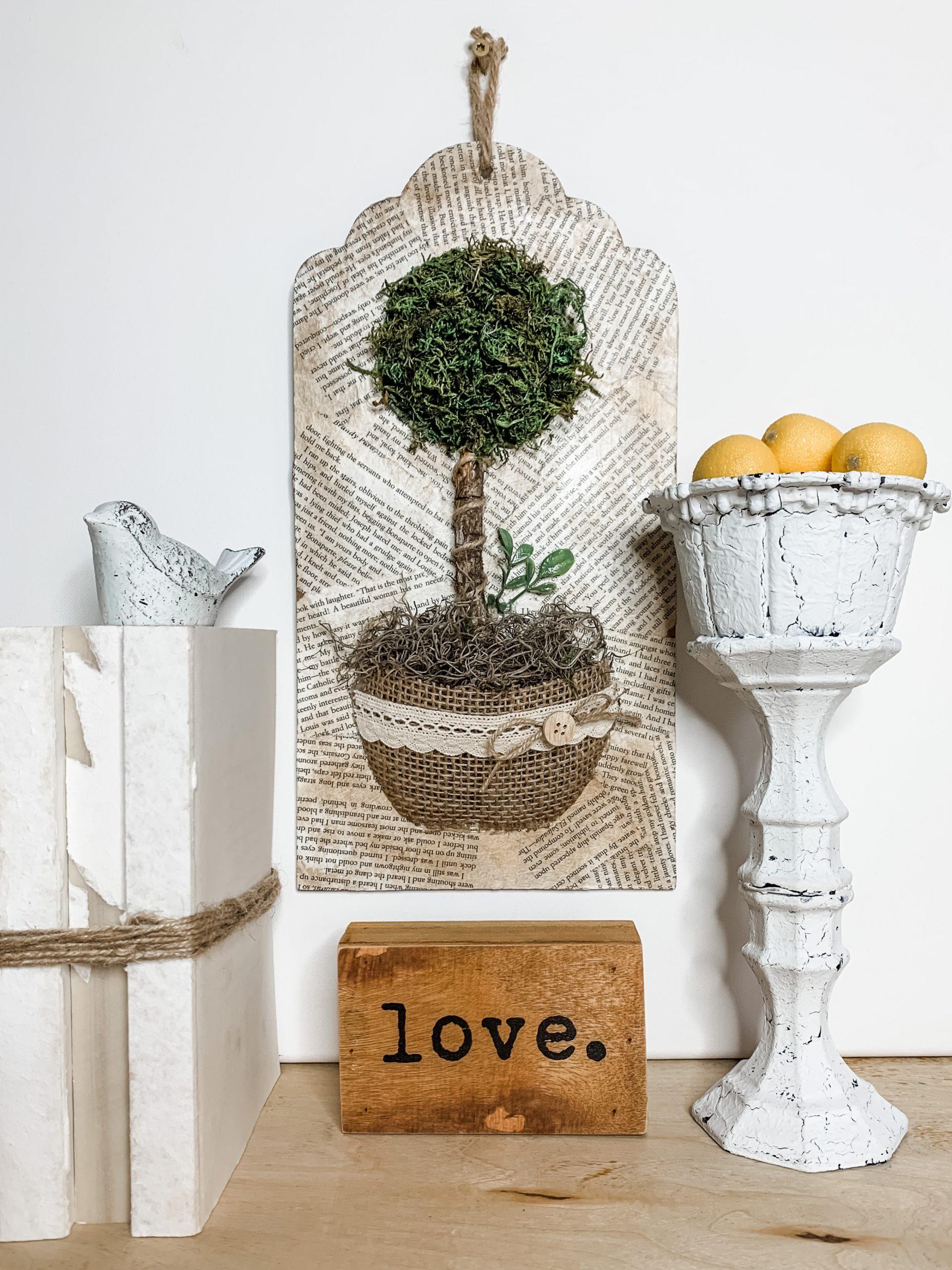 Dollar Tree DIY Topiary Wall Decor
