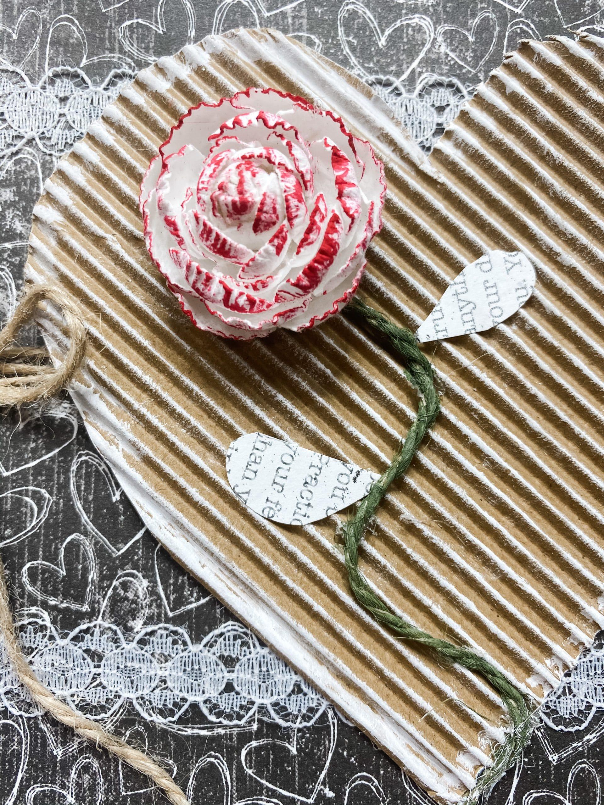 Valentine's Day Paper Craft DIY Shabby Chic Decor