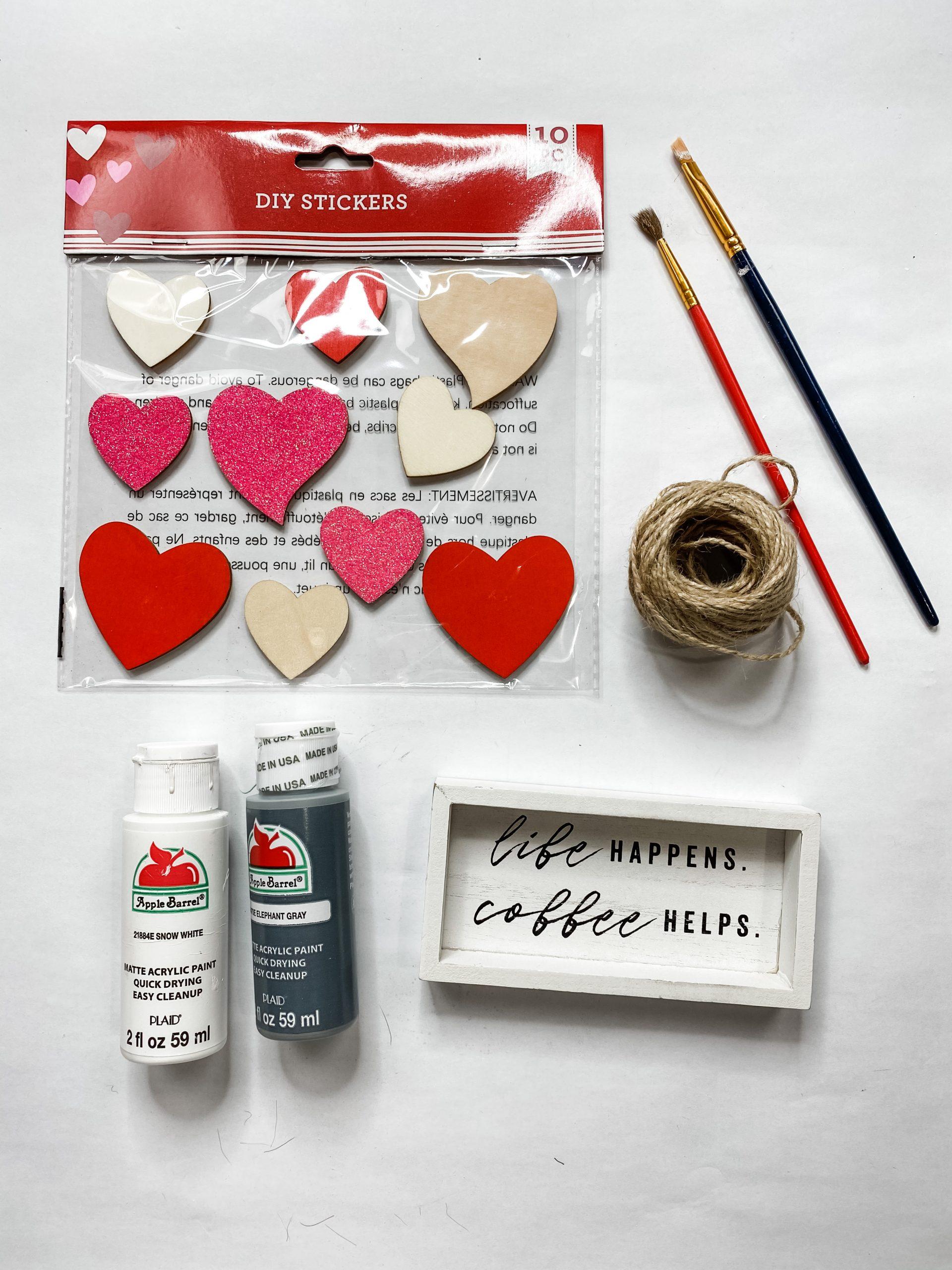 DIY Target Dollar Spot Sign Makeover Heart Decor