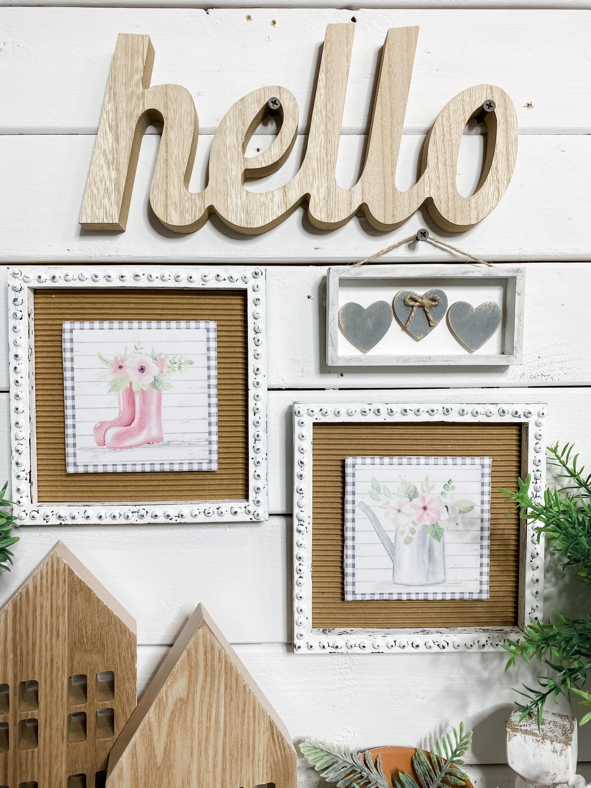 DIY Farmhouse Decor with Spring Printables