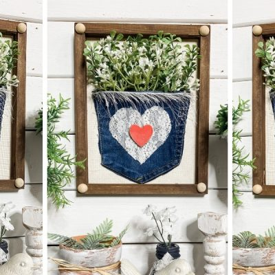 How to Turn an Old Pair of Jeans into DIY Spring Decor