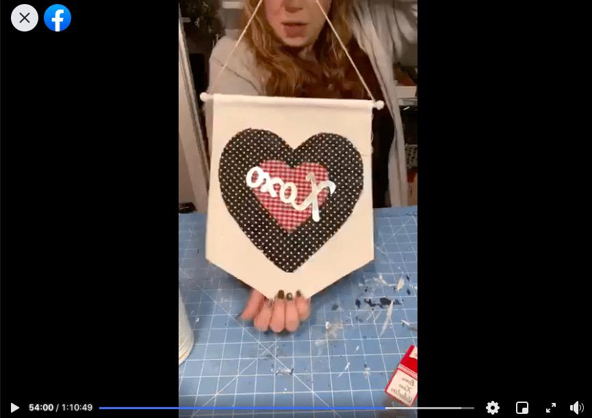 Dollar Tree Banner DIY Valentine's Day Decor