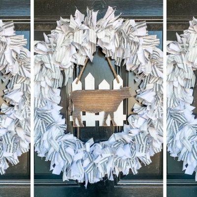 How to Make a Rag Wreath