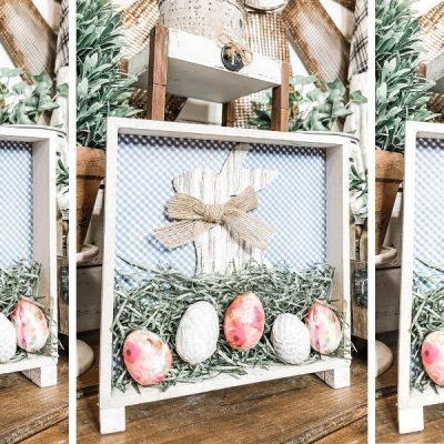 DIY Dollar Tree Easter Decor with Decoupaged Eggs