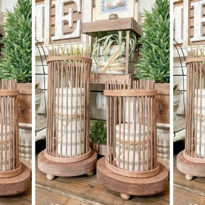 DIY Dollar Tree Farmhouse Candle Bases