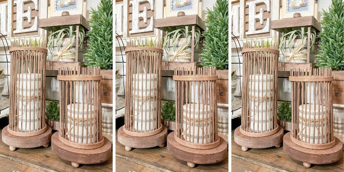 DIY Dollar Tree Farmhouse Candle Bases