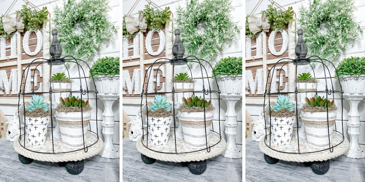 DIY Dollar Tree Shabby Chic Birdcage