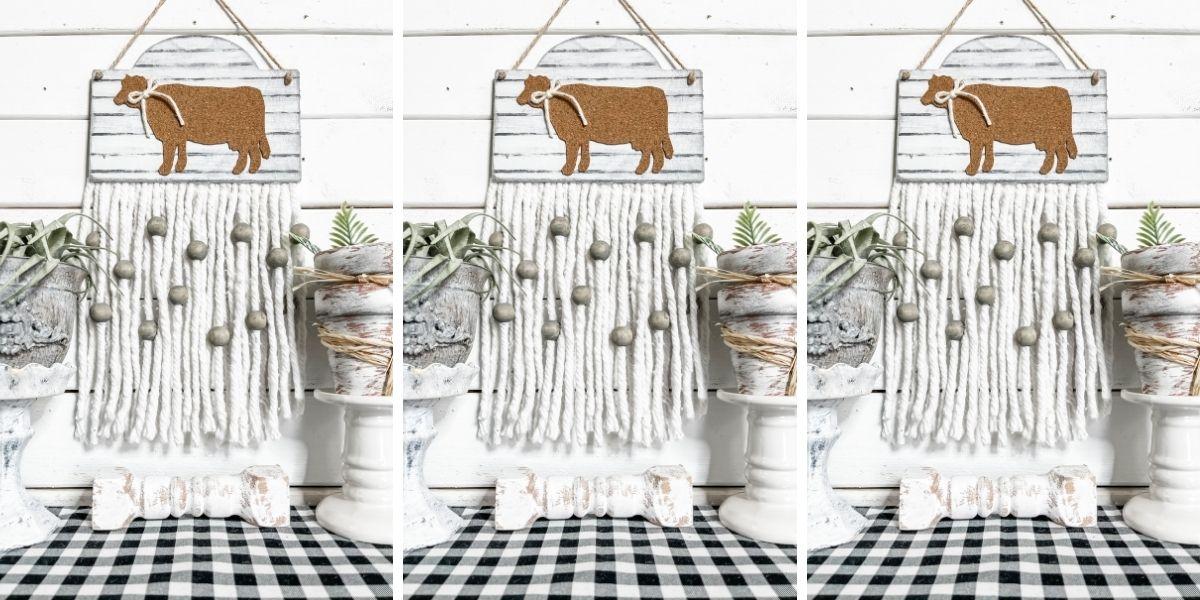 DIY Farmhouse Decor with Corkboard Cow