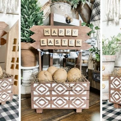 DIY Farmhouse Easter Crate