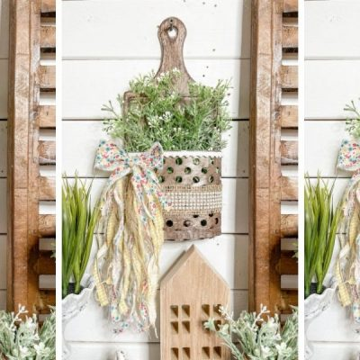 Dollar Tree DIY Faux Metal Bucket Spring Decor
