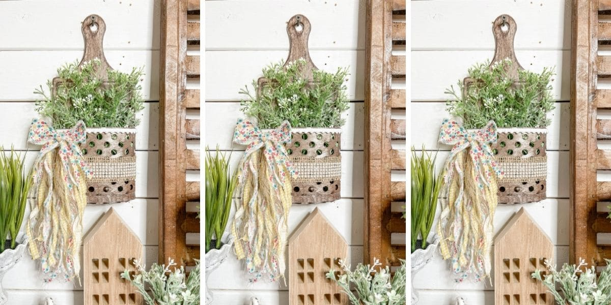 Dollar Tree DIY Faux Metal Bucket Spring Decor