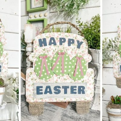 DIY Shabby Chic Happy Easter Truck