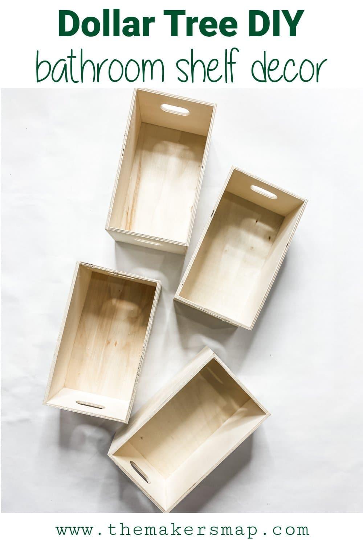 Decorative Bathroom Shelf or Organizer DIY