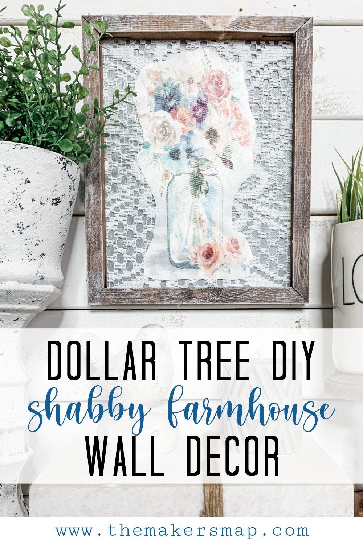 Dollar Tree DIY Shabby Farmhouse Wall Decor