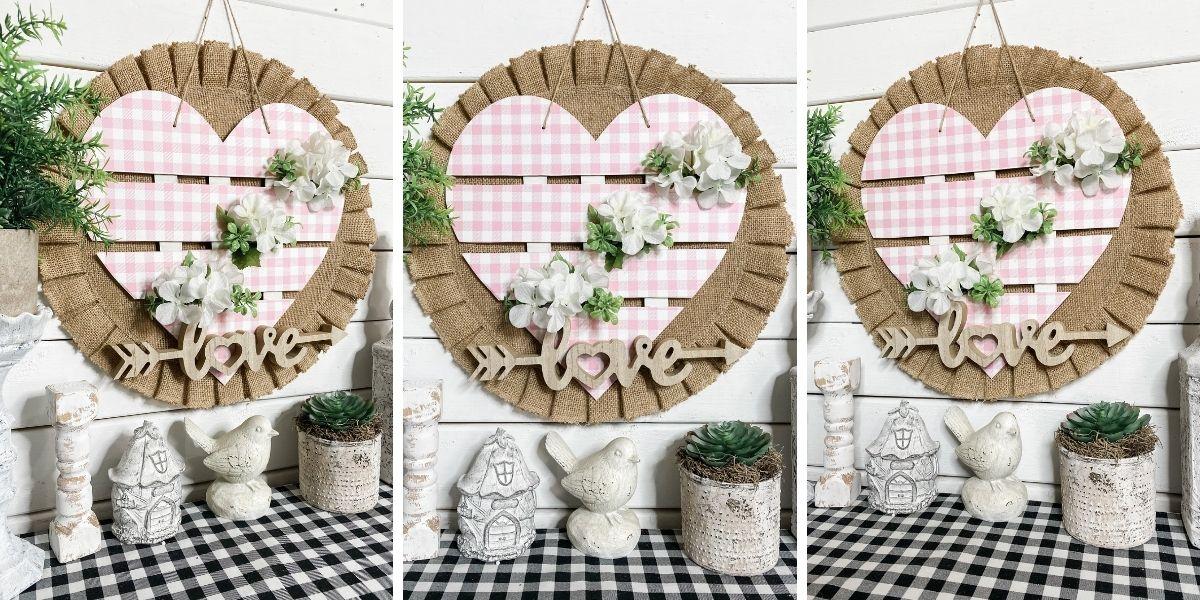 Dollar Tree Heart Spring Door Hanger