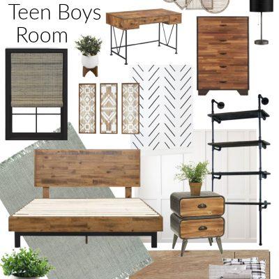 Teen Boy Rustic Industrial Room Inspiration